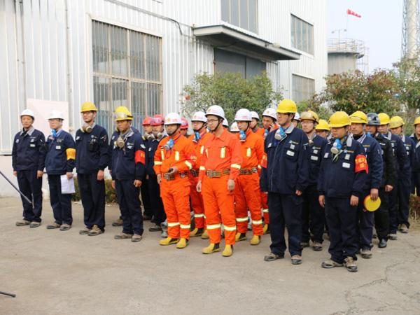 宿迁工厂开展2018年火灾事故专项应急演练活动